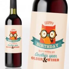 Birthday Wise Owl Wine Gift