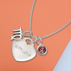 Hampers and Gifts to the UK - Send the With Love Zodiac Necklace