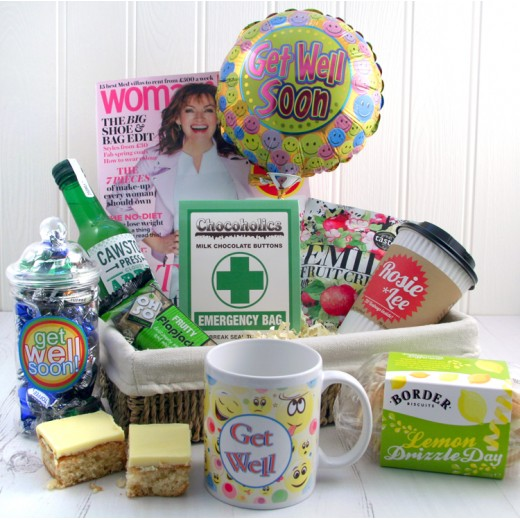 Hampers and Gifts to the UK - Send the Health and Happiness Get Well Basket for Her