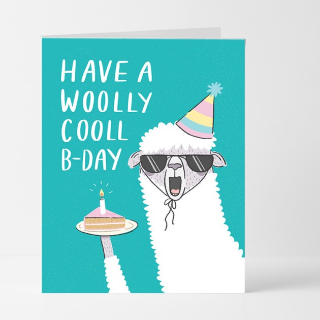 Hampers and Gifts to the UK - Send the Have a Woolly Cooll B-Day Card
