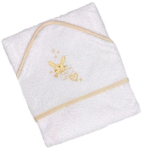 Hampers and Gifts to the UK - Send the Baby Yellow Hooded Towel