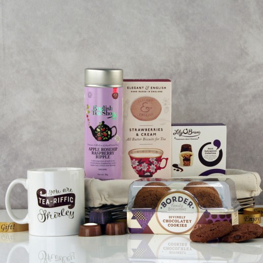 Hampers and Gifts to the UK - Send the You are Tea-riffic Tea and Biscuits Hamper