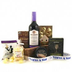 You're A Star Gift Basket  with Red Wine