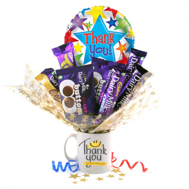 Hampers and Gifts to the UK - Send the Thank You Gift - Chocolate Bouquet In A Mug