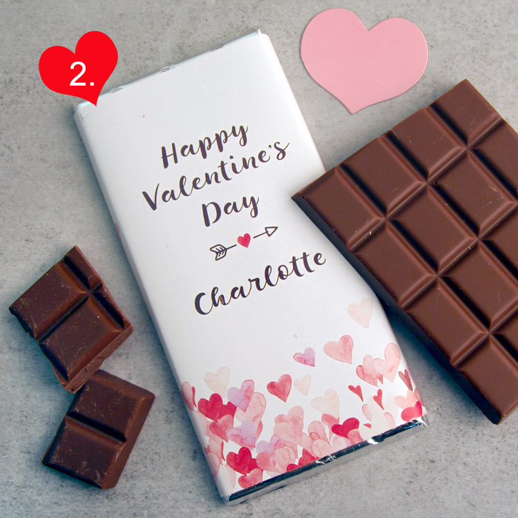 Personalised Chocolate for Valentine's Day...