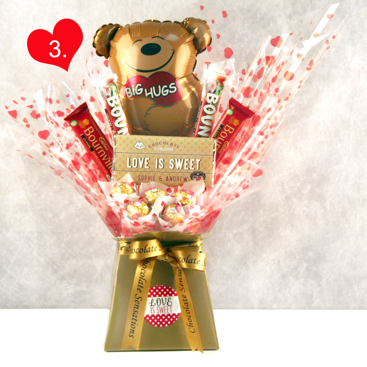 Big Hugs Chocolate Bouquet for Romantic Occasions...