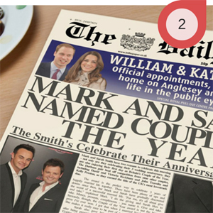 Personalised Newspaper for Anniversary Paper Gift
