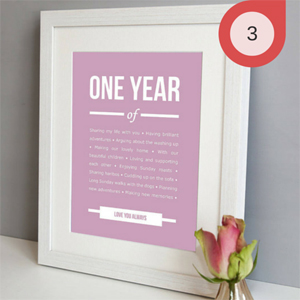 Framed Poem to Celebrate Wedding Anniversary