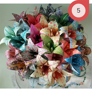 Paper Bouquet of Flowers for 1st Anniversary