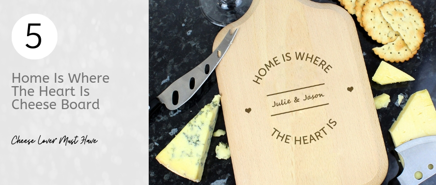 Home is Where The Heart Is Cheese Board for a new home gift idea...