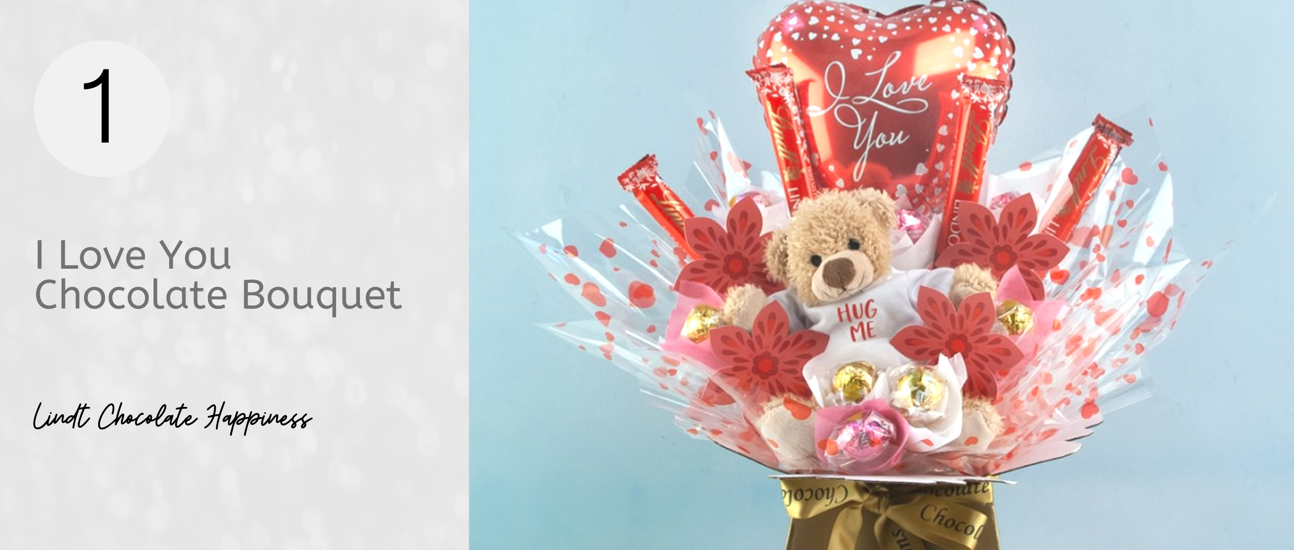 Romantic Chocolate Bouquet for Valentine's Day with Teddy Bear...