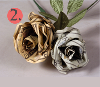 Money Roses as a Wedding Gift