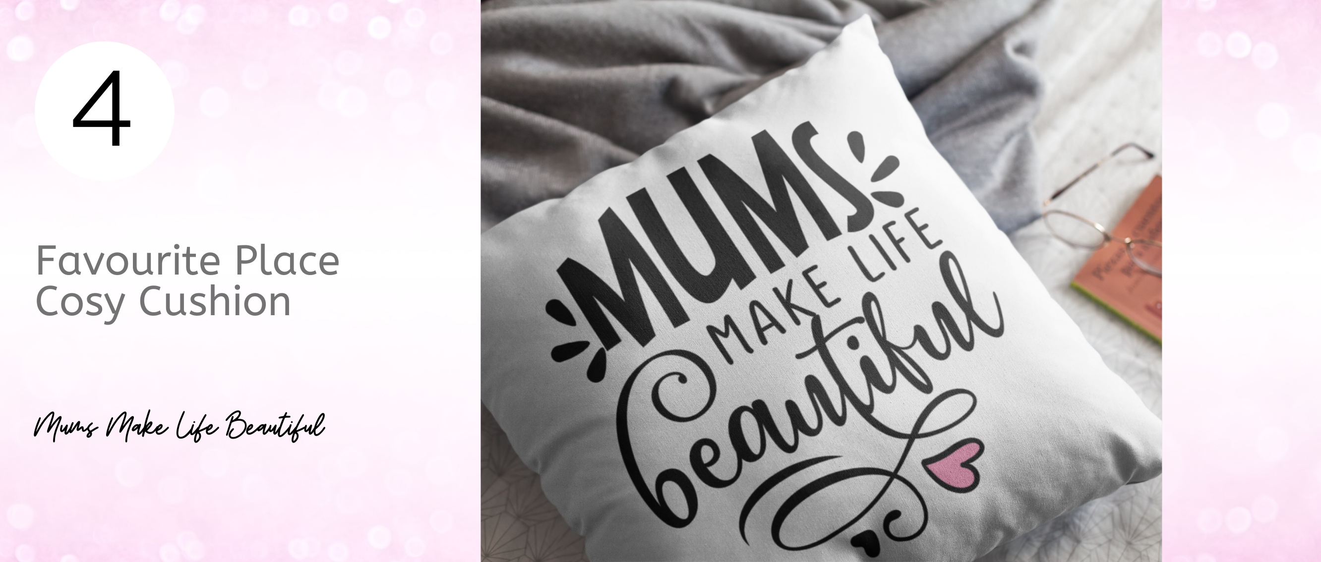 Mums Make Life Beautiful Cushion... from our top 9 genius gift ideas for Mother's Day