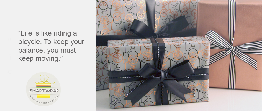 Know How to Wrap a Gift for a Cyclist - Stylish Gift Wrap Idea...