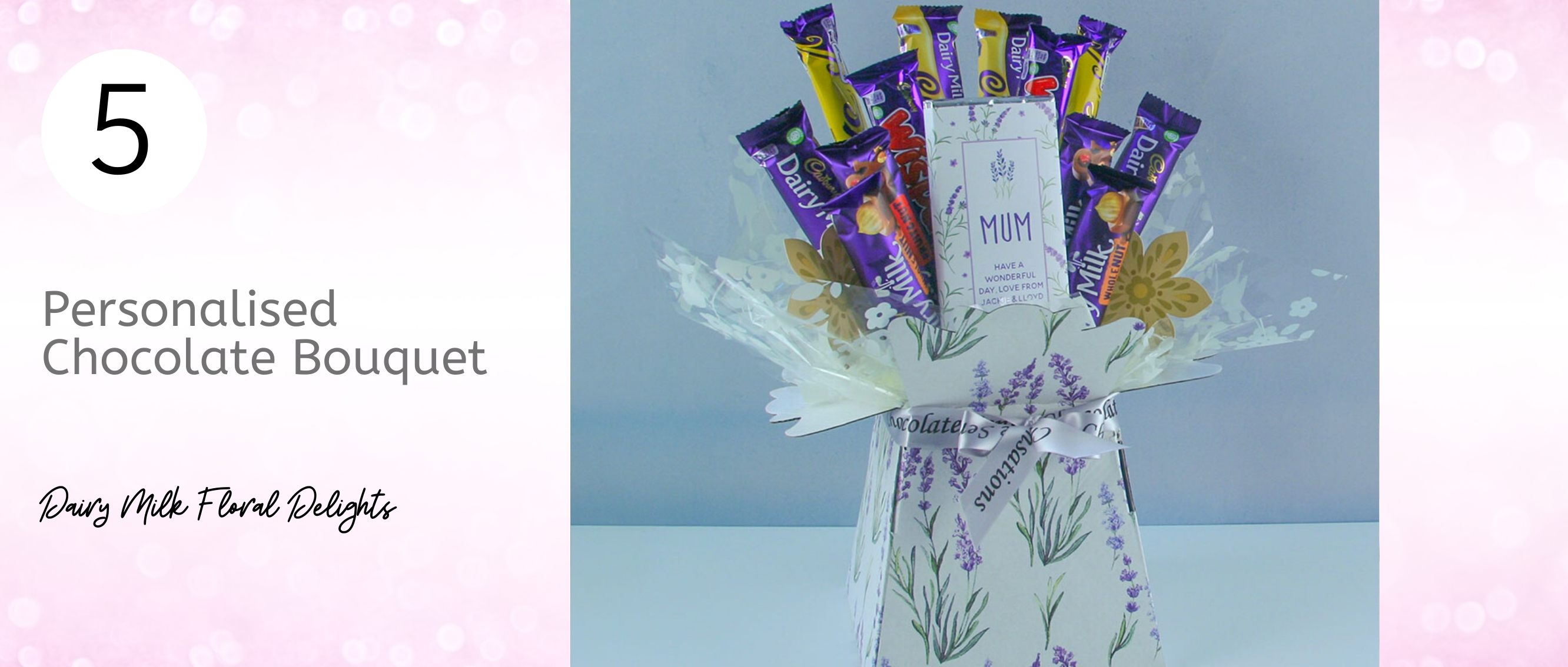 Lavender Themed Dairy Milk Chocolate Bouquet for Mum...