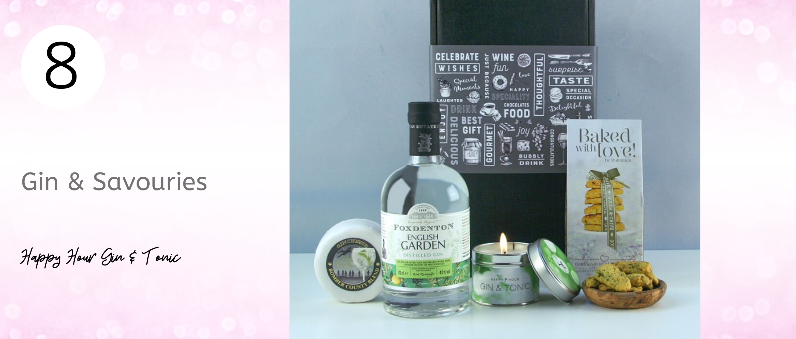 Gin hamper for Mother's Day gift idea.... foxdenton gourmet food hamper