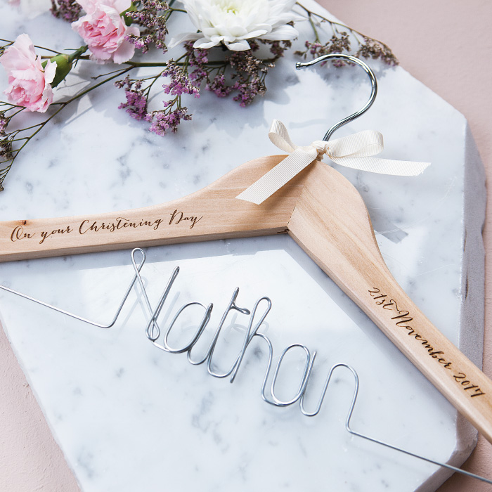 Personalised Coat Hangers - Christening Gift Idea