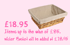 Wicker Basket Pricing for Create Your Own Hamper