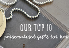 Our Top 10 Gift Ideas for Personalised Gifts...
