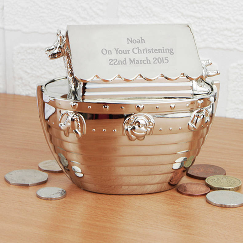 Engraved Christening Gifts... Noah's Ark