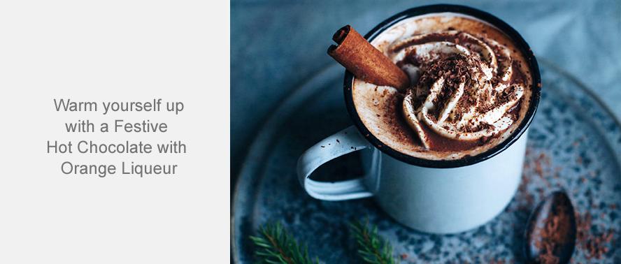 Festive Hot Chocolate with Orange Liqueur