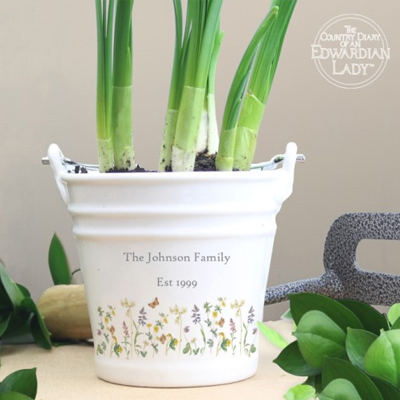 Personalised Garden Plant Pot for Mother's Day...