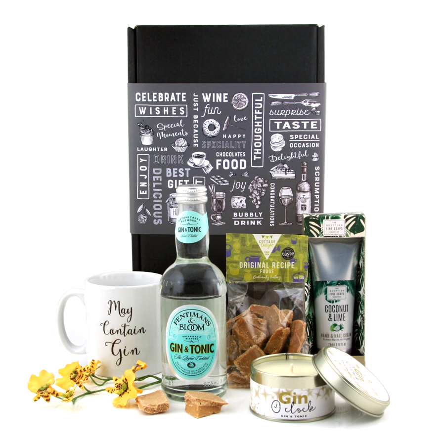 Top Gifts for Nan - Gin Hamper with Pampering Treats