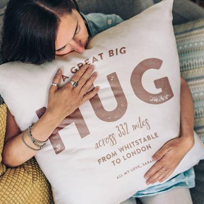 A great big hug personalised cushion for mum...