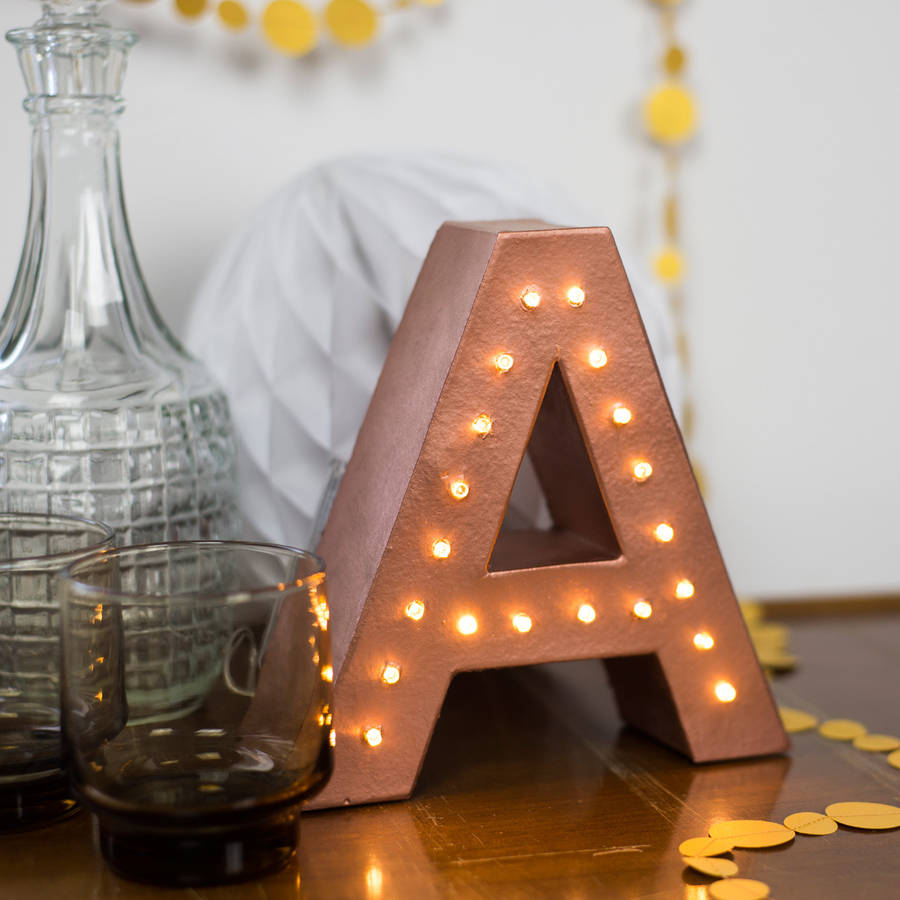 Battery Operated Light Up Letters