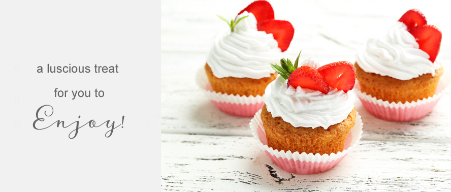 Luscious Cupcake Recipe for you to enjoy... Strawberries and Cream Cupcakes