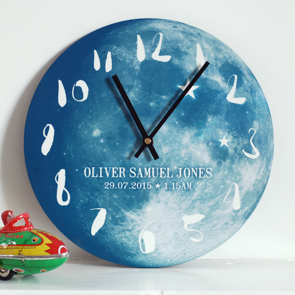 Christening Gift Idea - Moon Clock
