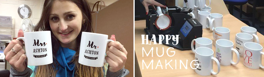 Making personalised mugs at Smart Gift Solutions...