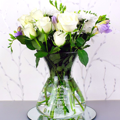 Personalised vase for a sentimental mother's day gift...