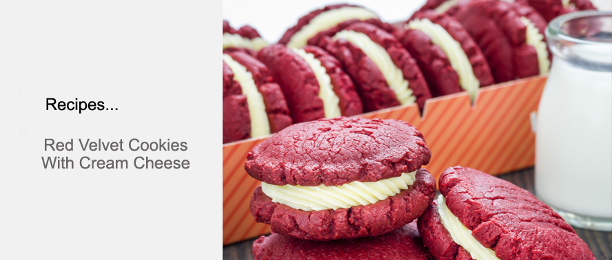 Delicious recipe inspired by the Hummingbird Bakery for Red Velvet Cookies...