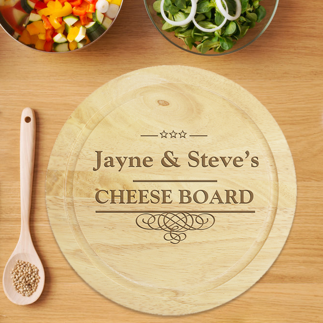 Wooden Chopping Board for a 5th Wedding Anniversary Gift...